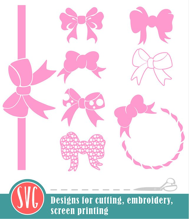 642x742 Bow Svg Cut Files Bow Vector Clip Art Silhouette Studio Etsy