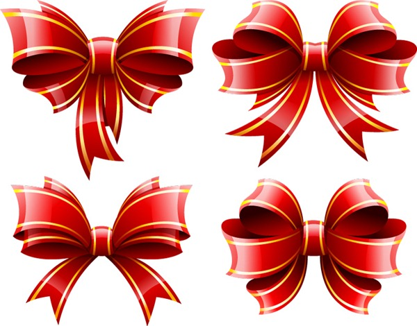 600x470 Decorative Red Bow Vector Material My Free Photoshop World