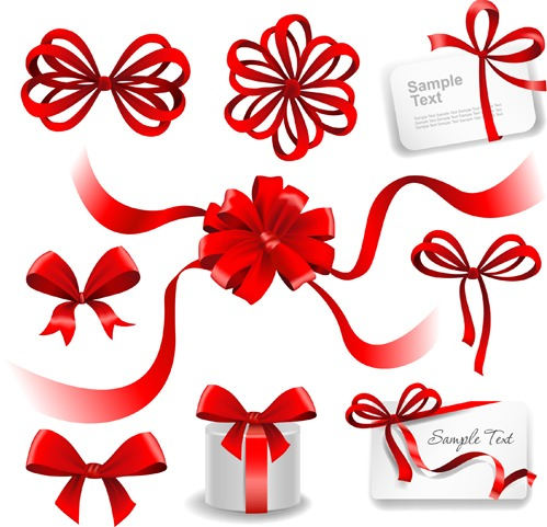 499x481 Gift Card With Red Bow Vector Free Vectors Ui Download