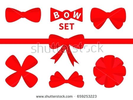 450x339 Present Bow Vector Big Red Ribbon Bow Icon Set Decoration Element