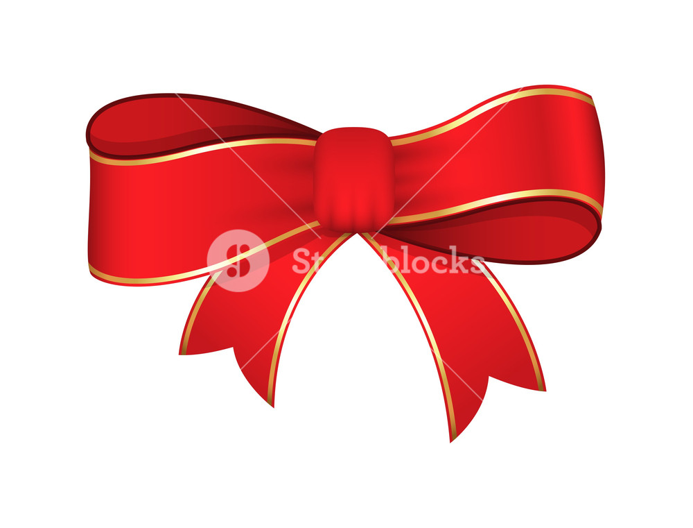 1000x761 Red Ribbon Bow Vector Design Royalty Free Stock Image