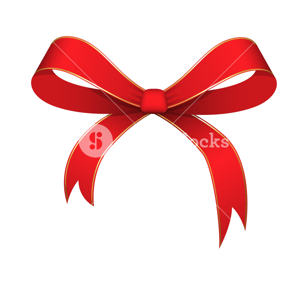 1000x927 Ribbon Bow Vector Illustration Royalty Free Stock Image