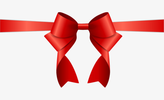 650x400 Christmas Bow Vector Material, Bow, Red, Three Dimensional Png And