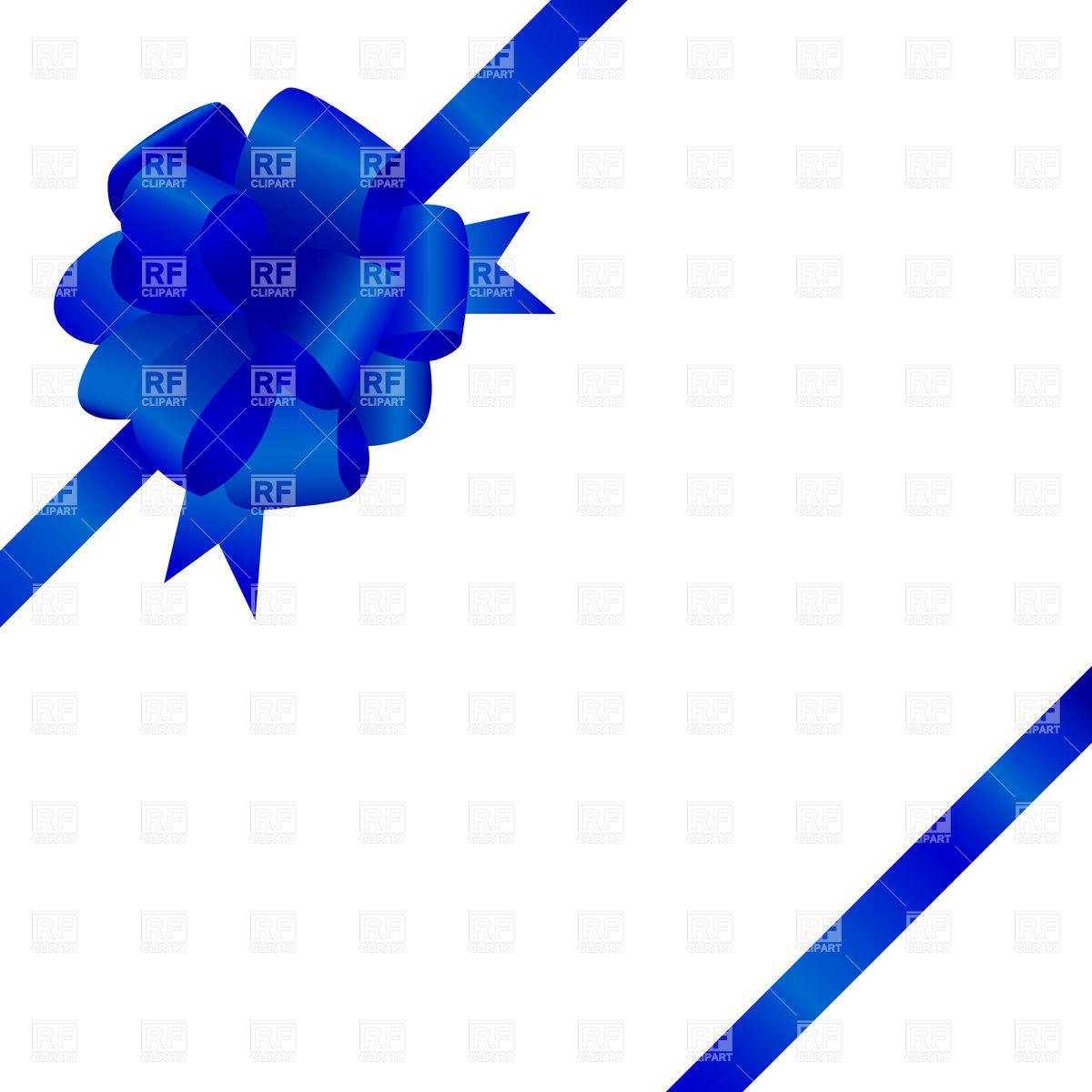 1200x1200 Decorative Corner Ribbon And Blue Bow Vector Image Vector