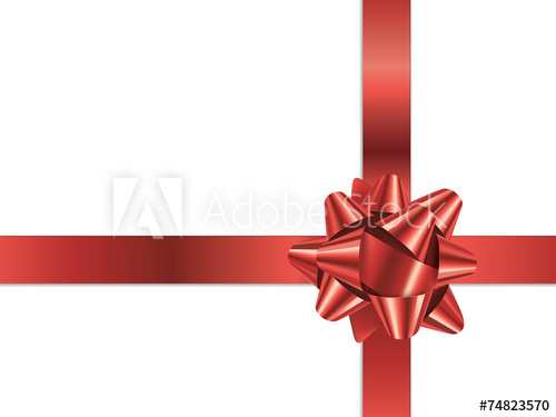 500x375 Gift Bow (Vector Red Christmas Present Ribbon)
