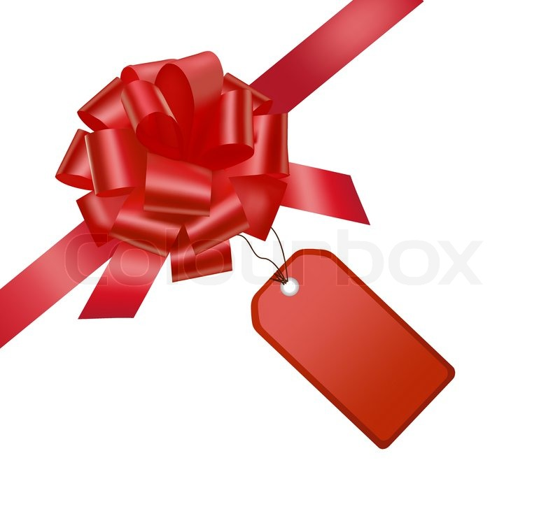 800x738 Gift Red Bow With A Ribbon. Vector. Stock Vector Colourbox