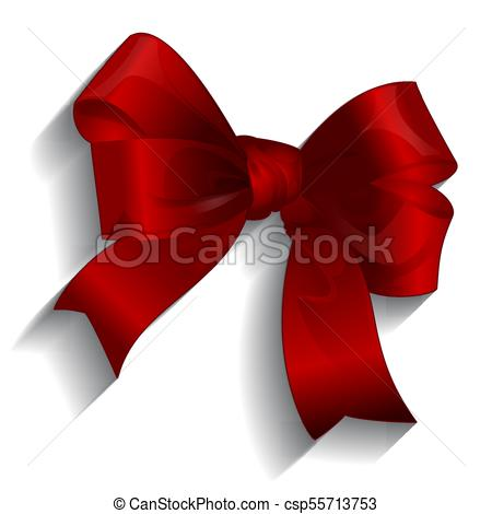 450x470 Gift Satin Ribbon Bow, Vector.