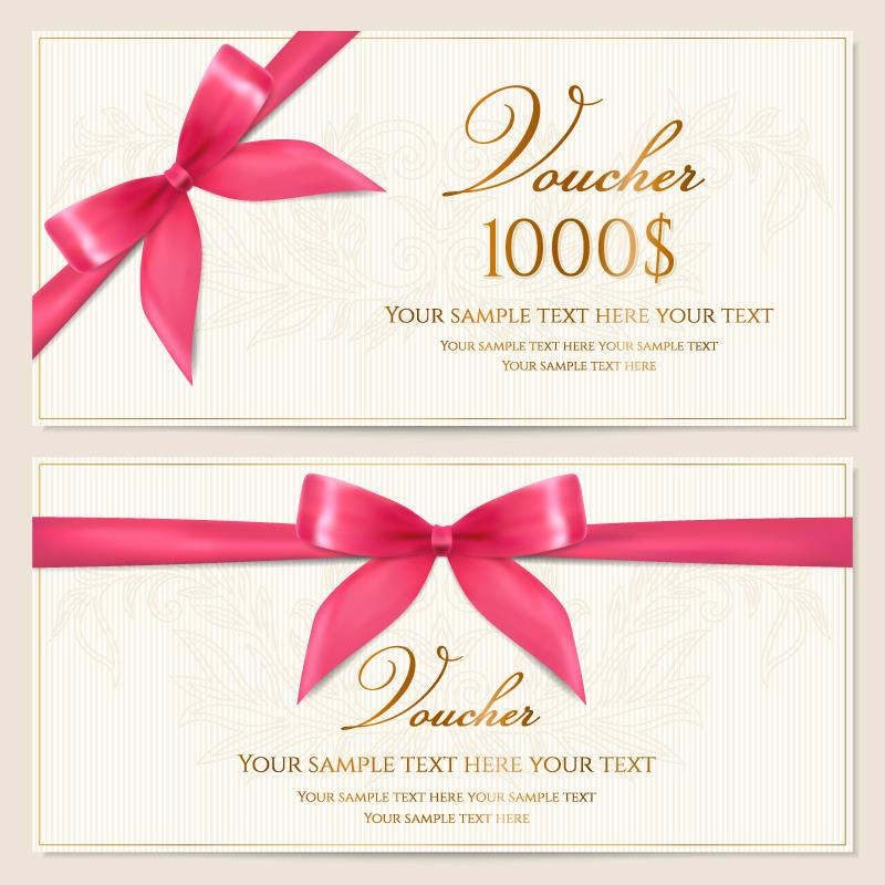800x800 Pink Ribbon Bow Vector Certificate [Ai]