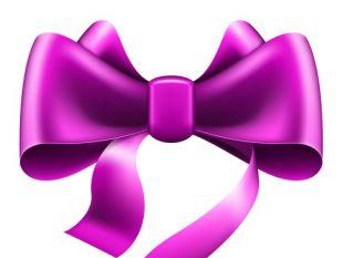 310x233 Purple Ribbon Bows Vector 01 Free Vectors Ui Download