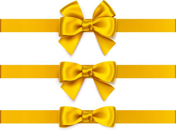 600x447 Beautiful Yellow Bow Vector Free Download