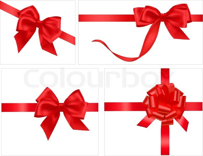 800x615 Big Collection Of Gift Bows. Vector. Stock Vector Colourbox