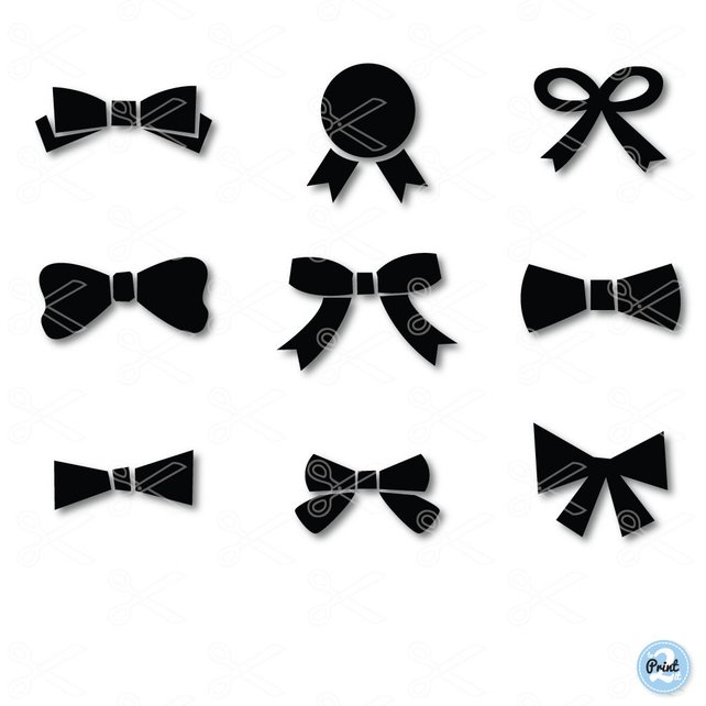 642x642 Bow Tie Svg Png Dxf Eps Cutting Files Bow Vector Bow Etsy