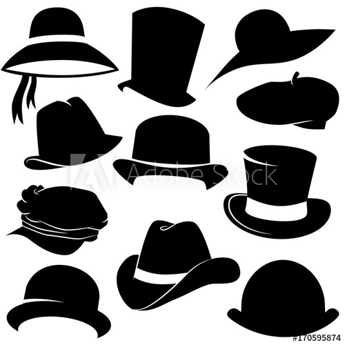 500x500 Hat Vector Icon Set.