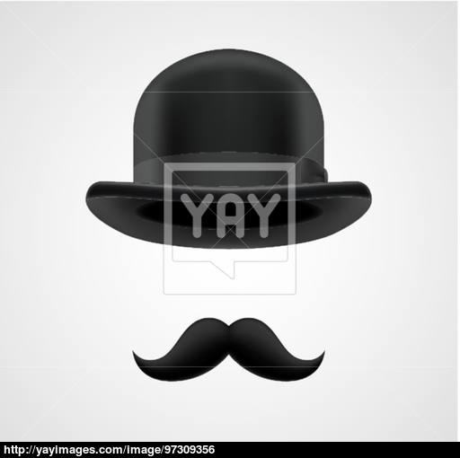 512x510 Boss Gentleman With Moustaches And Bowler Hat Vector