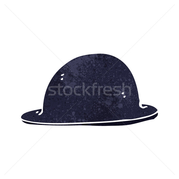 600x600 Cartoon Old Bowler Hat Vector Illustration Lineartestpilot