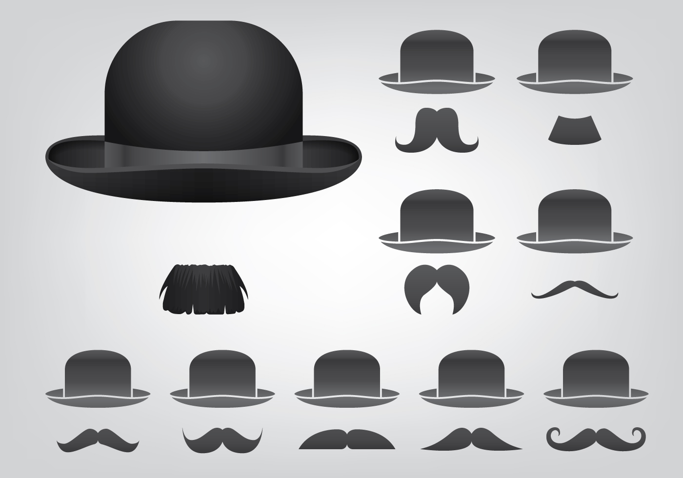 1400x980 Bowler Hat Free Vector Art