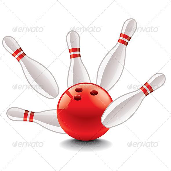 590x590 Bowling Ball And Pins Vector Illustration By Andegro4ka Graphicriver