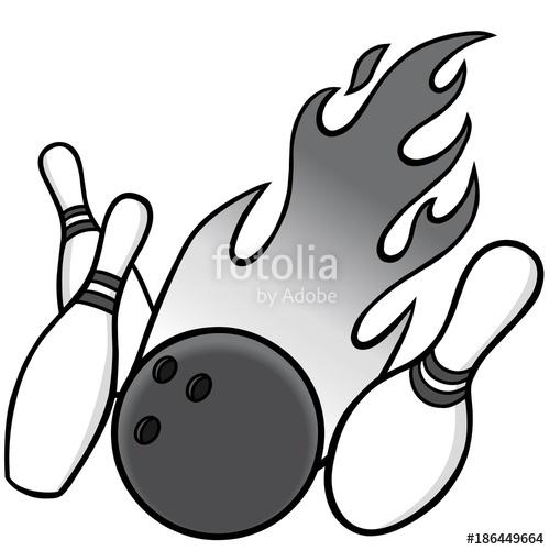 500x500 Bowling Illustration