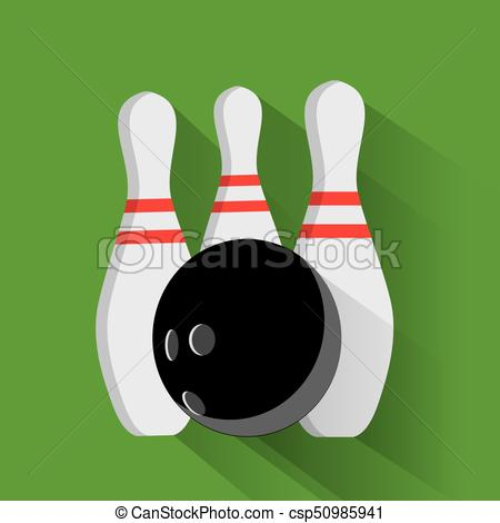 450x470 Bowling Ball And Pin Vector Set Isolated From The Background