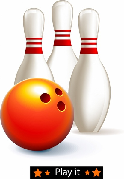 414x600 Bowling Ball And Pins Free Vector In Adobe Illustrator Ai ( .ai
