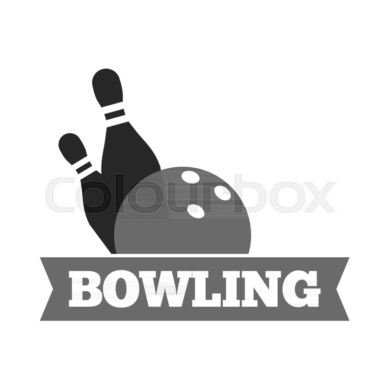 800x800 Bowling Ball And Pins Logo Template For Bowling Sport Game