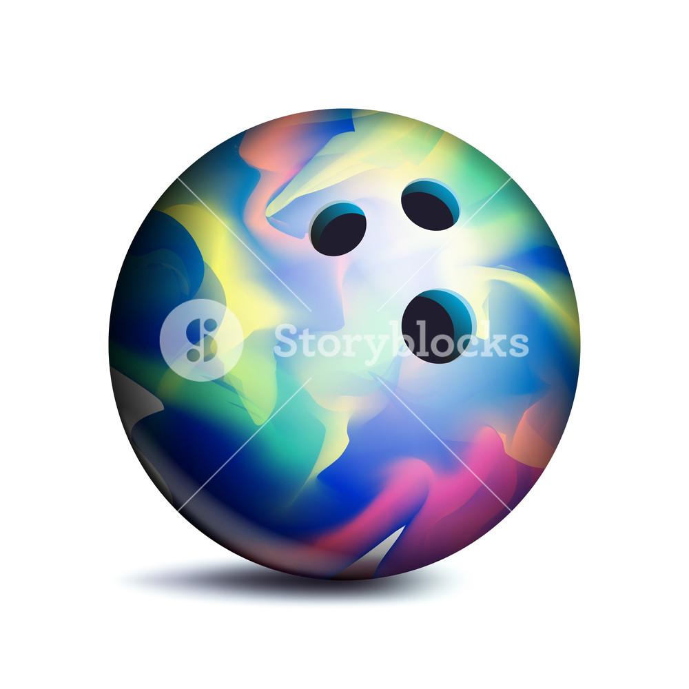 1000x1000 Bowling Ball Vector. Sport Game Symbol. Illustration Royalty Free