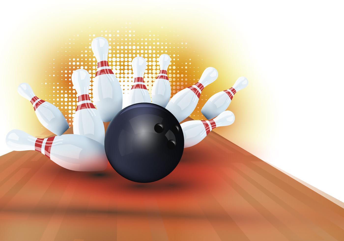 1400x980 Bowling Free Vector Art