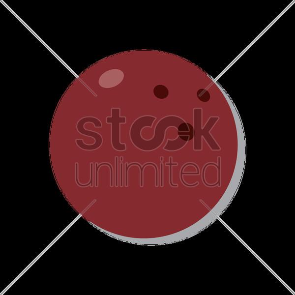 600x600 Bowling Ball Vector Image