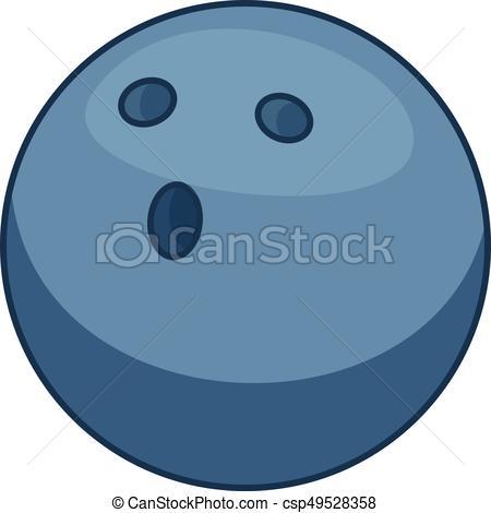 450x470 Bowling Ball Icon, Cartoon Style. Bowling Ball Icon. Cartoon