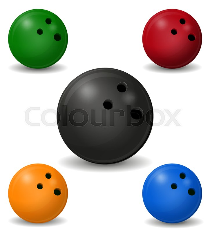724x800 Bowling Ball Vector Illustration Isolated On White Background