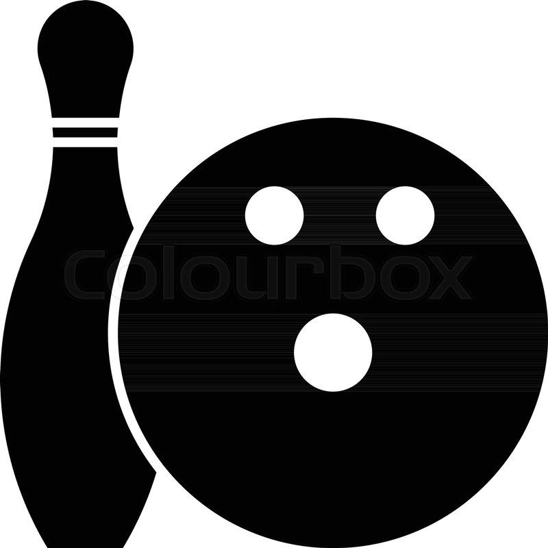 800x800 Glyph Beautiful Bowling Ball Vector Icon Stock Vector Colourbox