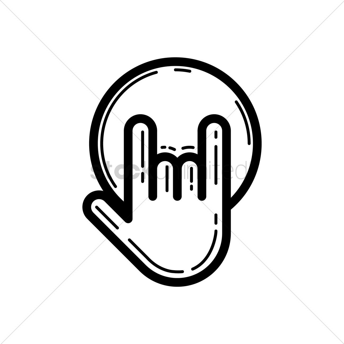 1300x1300 Hand Holding Bowling Ball Vector Image