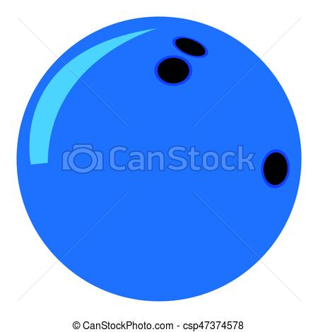450x470 Isolated Bowling Ball On A White Background, Vector Illustration.