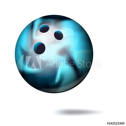 500x500 3d Bowling Ball Vector. Classic Ball. Illustration