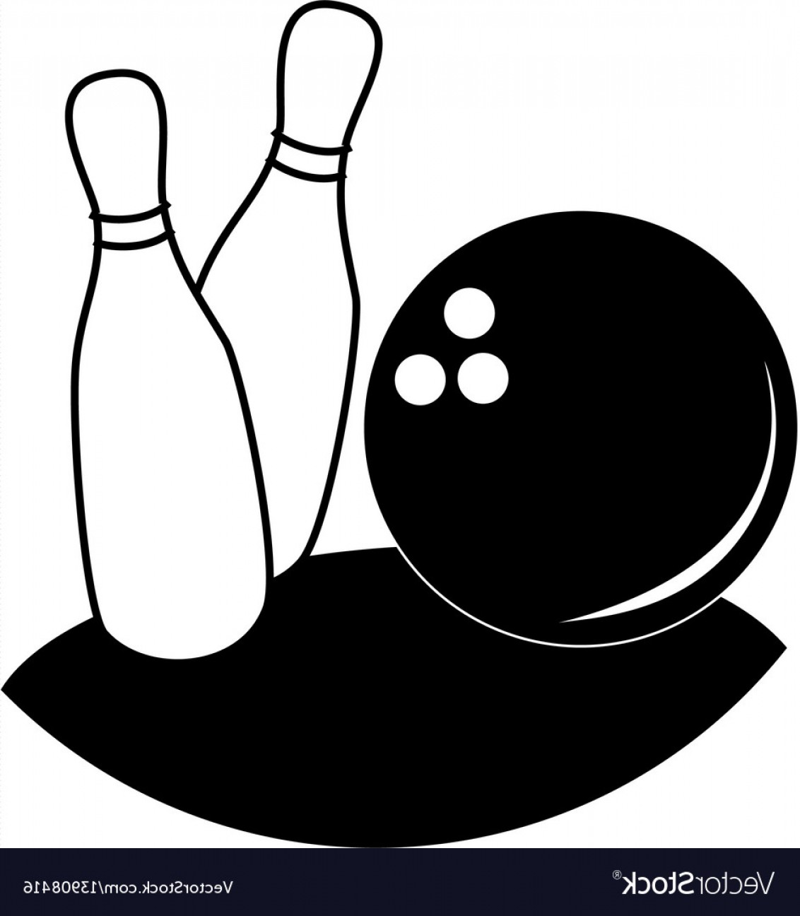 1132x1296 Monochrome Silhouette With Bowling Pins And Ball Vector Geekchicpro