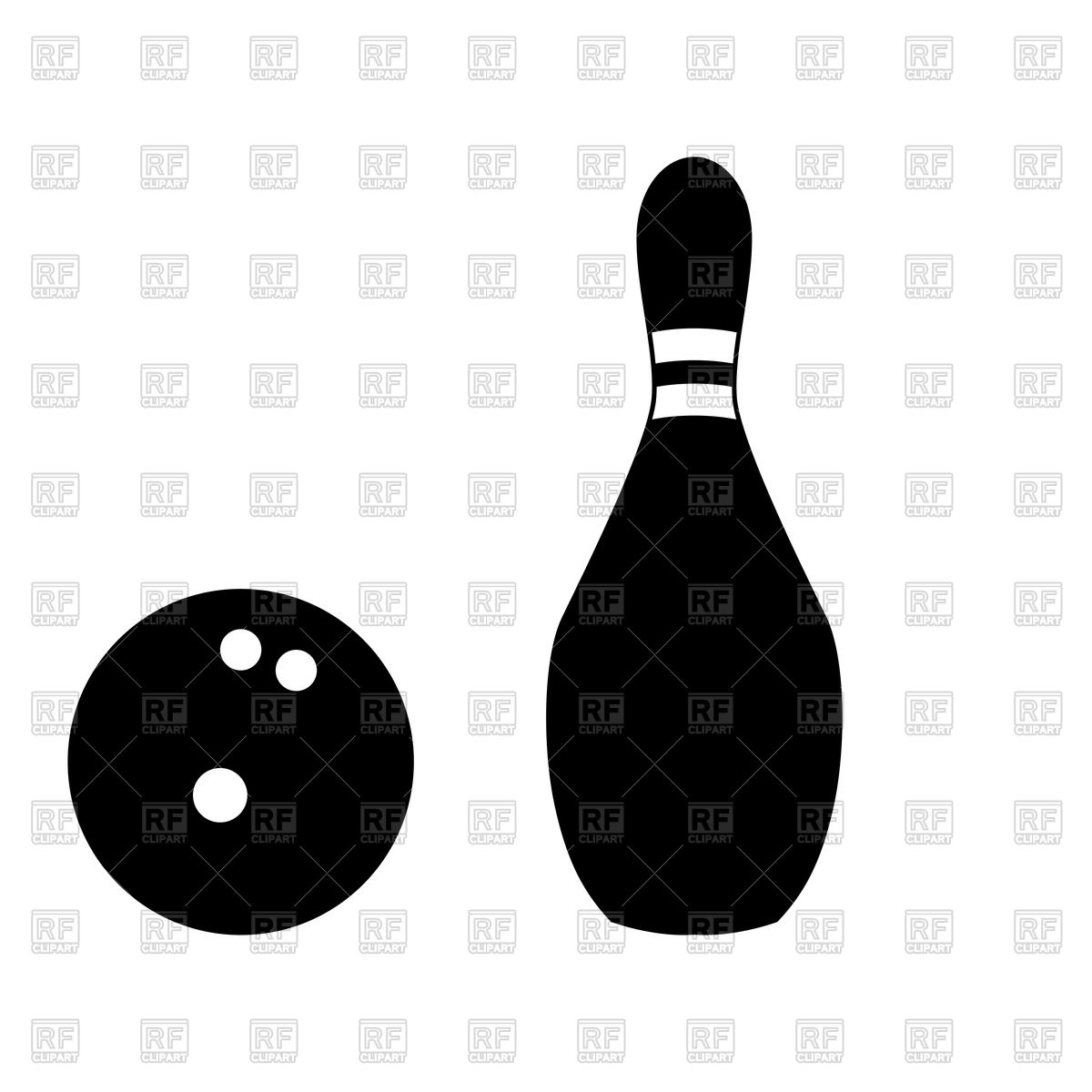 1200x1200 Pin And Bowling Ball Black Color Icon Vector Image Vector