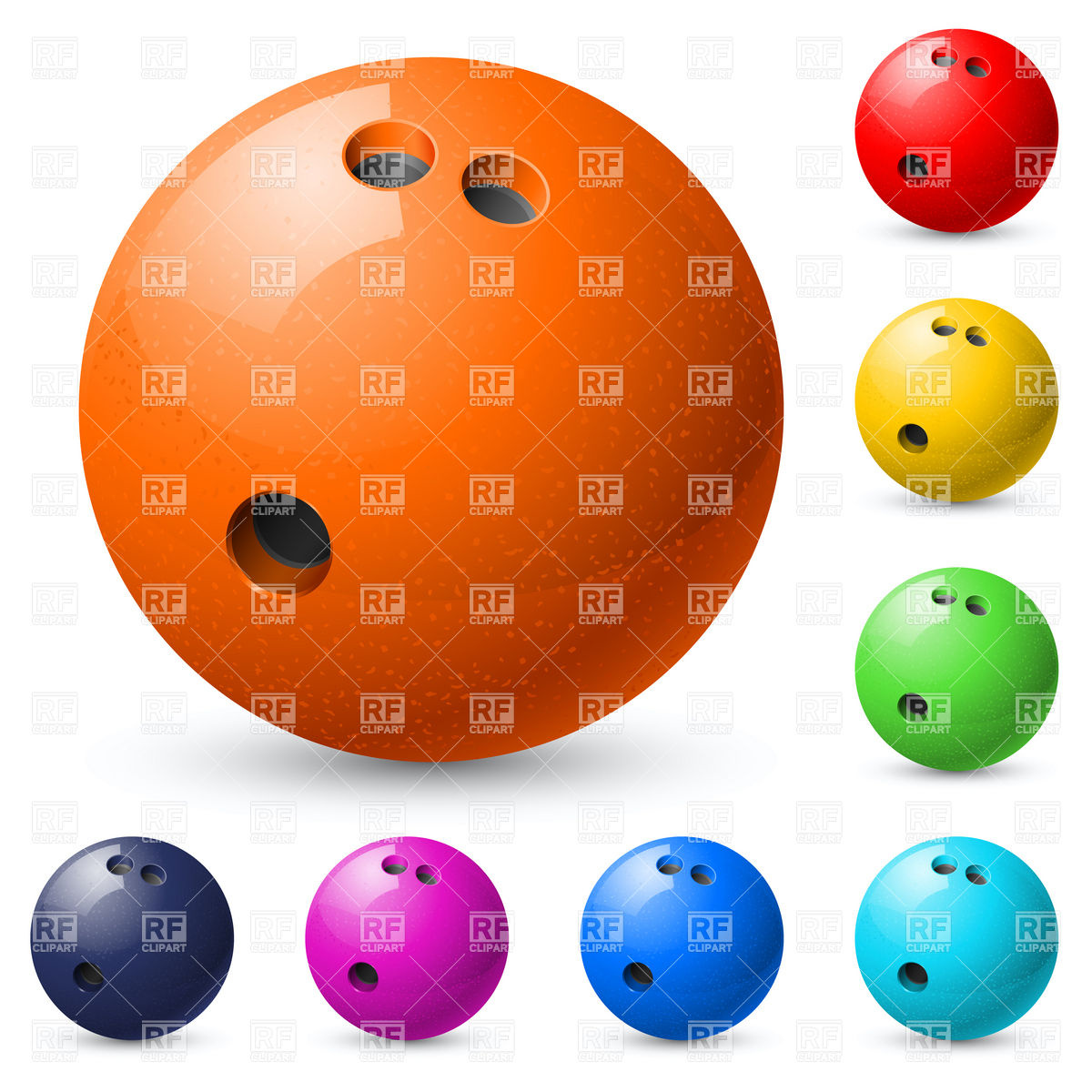 1200x1200 Set Of Bowling Balls Vector Image Vector Artwork Of Sport And