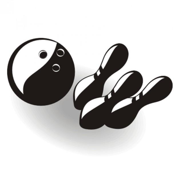 626x626 Yin Yang Bowling Ball And Pins Vector Free Download