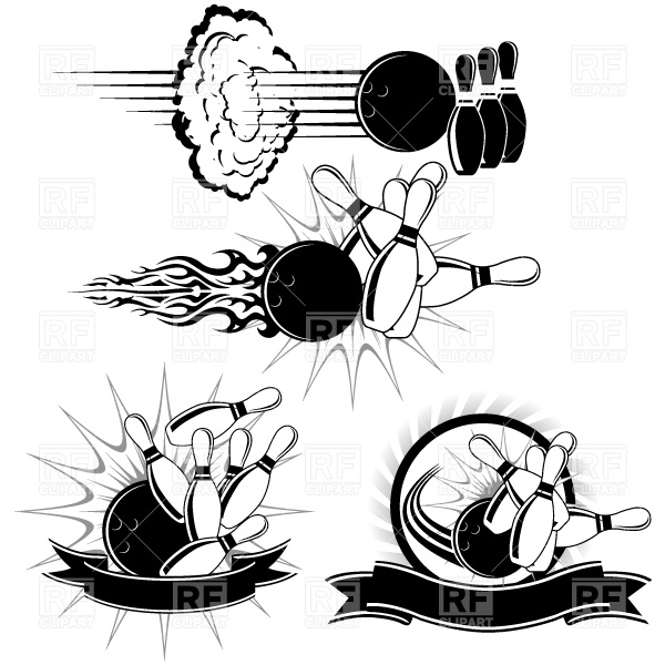 600x600 Bowling Strike Vector Image Vector Artwork Of Sport And Leisure
