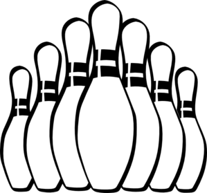 299x279 Bowling Clipart Vector