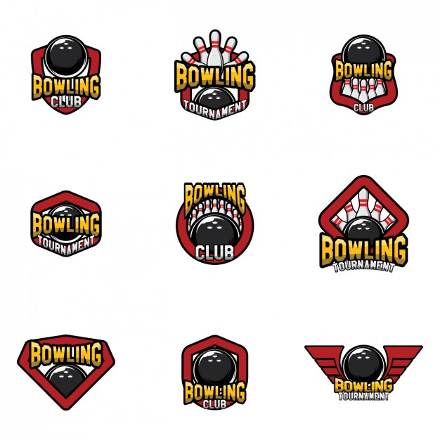 626x626 Bowling Logo Templates Design Vector Free Download