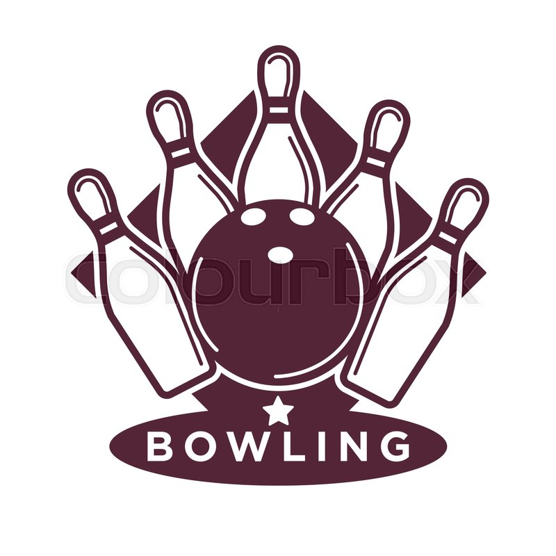 800x800 Bowling Tournament Poster Or Logo Vector Template Of Ball And