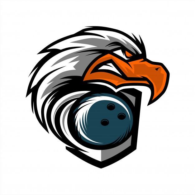 626x626 Eagle Head Bowling Team Logo Vector Premium Download