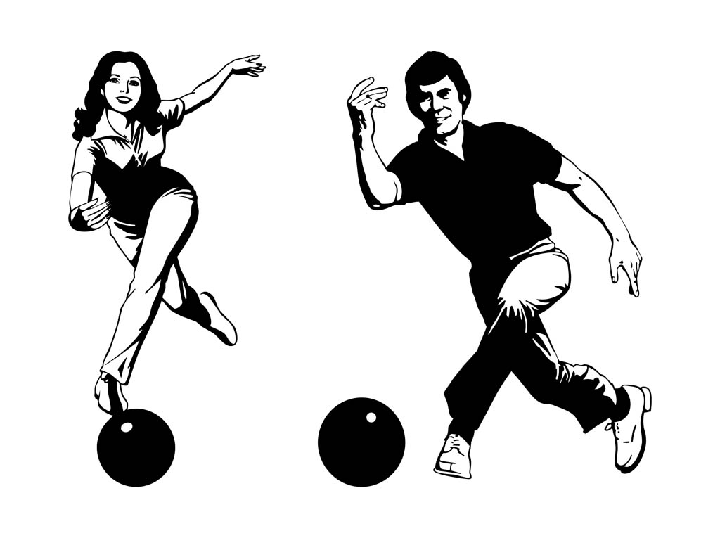 1024x765 Smiling Bowling Players Vector Art Amp Graphics