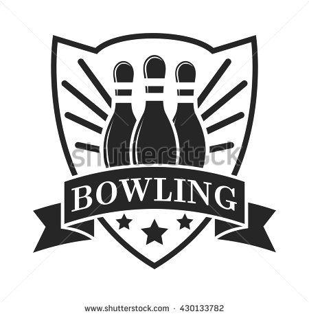 450x460 Vector Set Of Bowling Logos, Bowling Logo Emblems And Bowling Logo