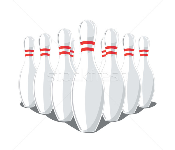 600x514 9 Vector Bowling Pins Vector Illustration Elisanth ( 416015