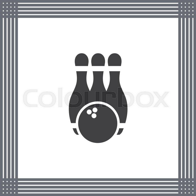 800x800 Bowling Pin Vector Icon. Leisure Game Sign. Recreation Sport