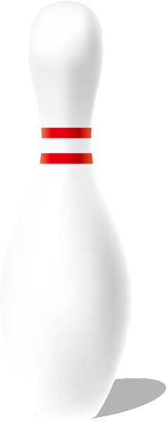 239x600 White Bowling Pin Free Vector Data. Svg(Vector)public Domain