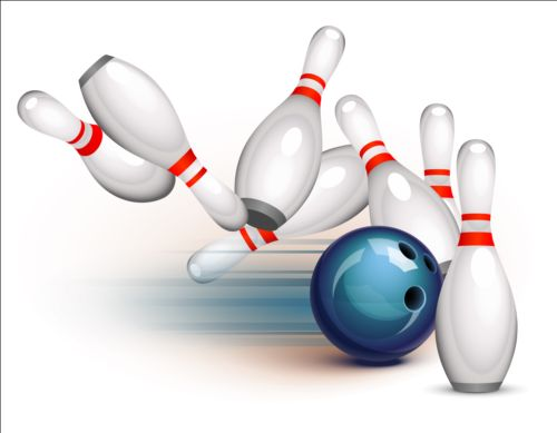500x389 Creative Bowling Vector Background 01 Free Download