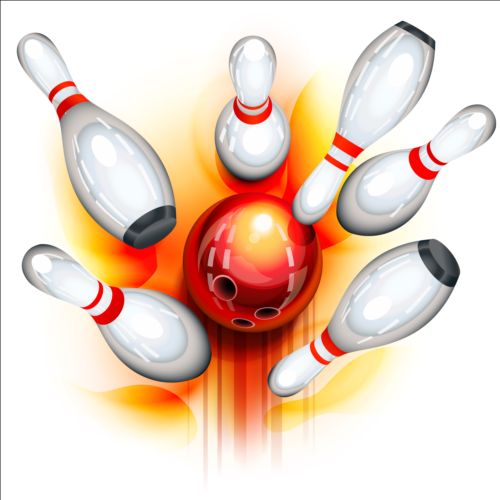 500x500 Creative Bowling Vector Background 03 Free Download